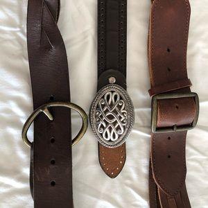 Ladies leather belts $5 each